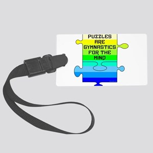 Jigsaw Puzzle Pieces Large Luggage Tag
