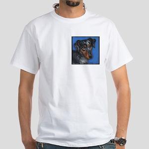 Dachshund Brindle White T-Shirt