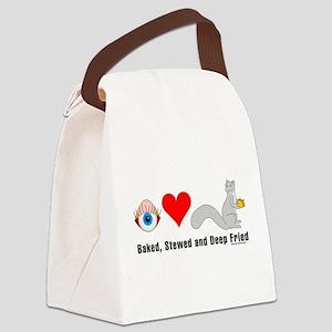 Eye Heart Squirrel Canvas Lunch Bag