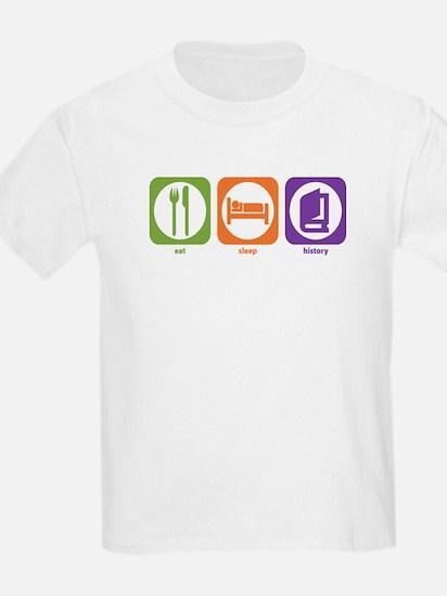 Eat Sleep History Kids T-Shirt