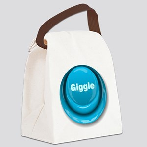 Giggle Button Canvas Lunch Bag