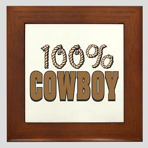 100% Cowboy Framed Tile