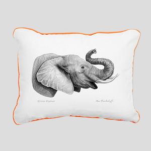 Lucky Elephant ~ Rectangular Canvas Pillow