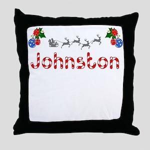 Johnston, Christmas Throw Pillow