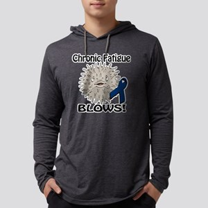 Chronic Fatigue Blows Awareness  Mens Hooded Shirt