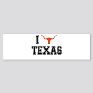 I heart Texas Sticker (Bumper)