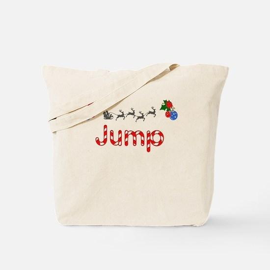 Jump, Christmas Tote Bag