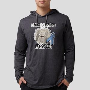 Eating Disorders Blow Awareness  Mens Hooded Shirt