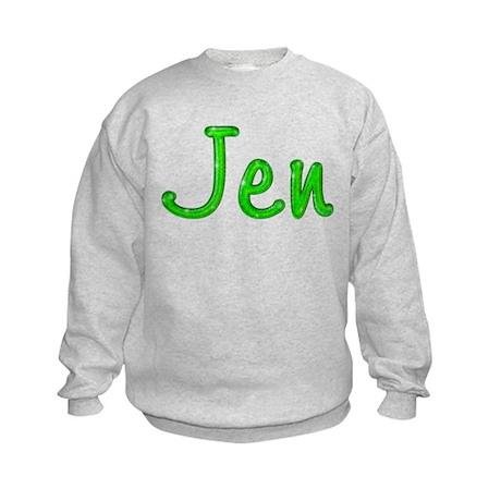 Jen Glitter Gel Kids Sweatshirt
