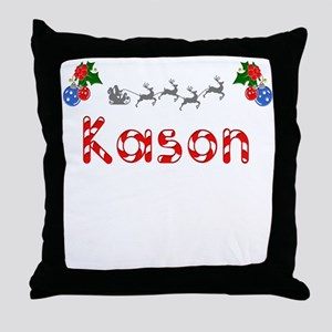 Kason, Christmas Throw Pillow