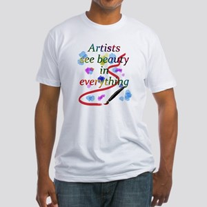 Artists See Beauty Fitted T-Shirt