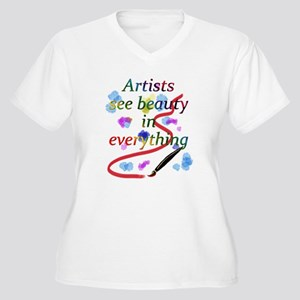 Artists See Beauty Women's Plus Size V-Neck T-Shir