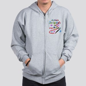 Artists See Beauty Zip Hoodie