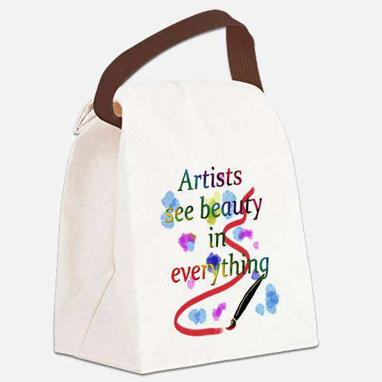Artists See Beauty Canvas Lunch Bag