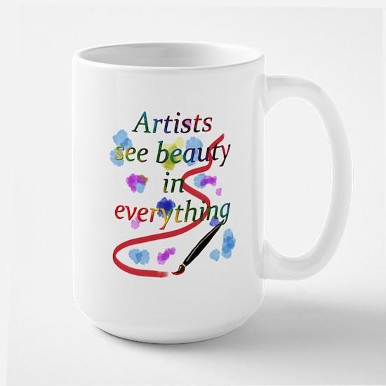 Artists See Beauty Large Mug