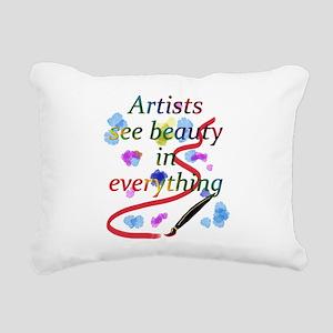 Artists See Beauty Rectangular Canvas Pillow