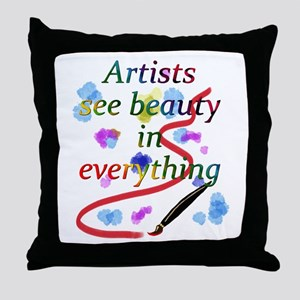 Artists See Beauty Throw Pillow