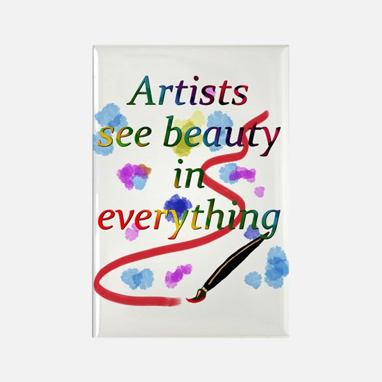 Artists See Beauty Rectangle Magnet