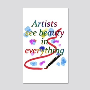 Artists See Beauty 20x12 Wall Decal