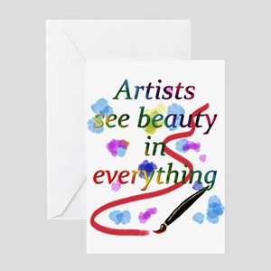 Artsy greeting cards cafepress artists see beauty greeting card m4hsunfo