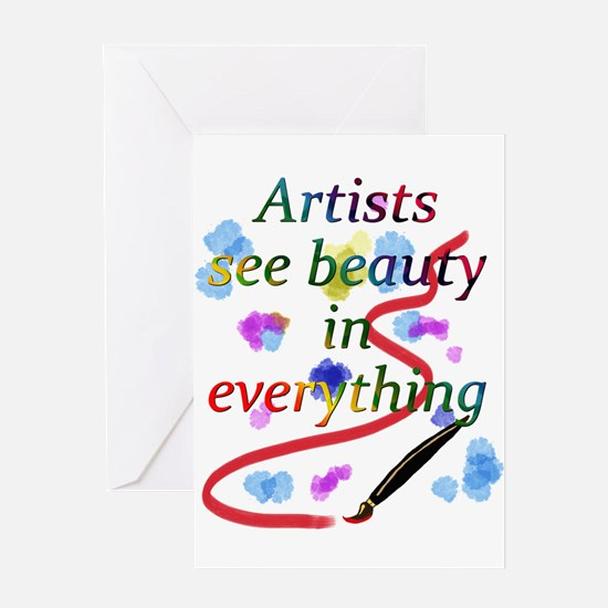Artists See Beauty Greeting Card