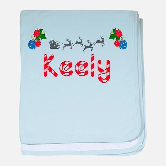 Keely, Christmas baby blanket