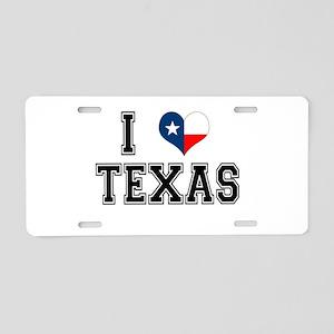 I heart Texas Aluminum License Plate