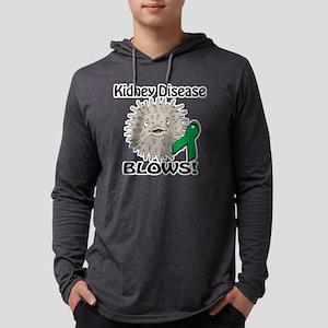 Kidney Disease Blows Awareness D Mens Hooded Shirt