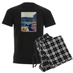 Rocky Shores of Lake Superior Men's Dark Pajamas