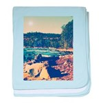 Rocky Shores of Lake Superior baby blanket