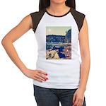 Rocky Shores of Lake Superior Women's Cap Sleeve T
