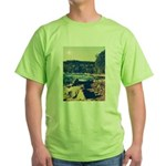 Rocky Shores of Lake Superior Green T-Shirt