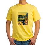 Rocky Shores of Lake Superior Yellow T-Shirt