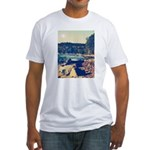 Rocky Shores of Lake Superior Fitted T-Shirt