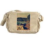 Rocky Shores of Lake Superior Messenger Bag