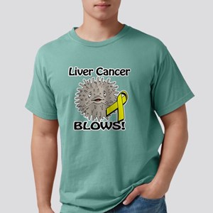 Liver Cancer Blows Aware Mens Comfort Colors Shirt
