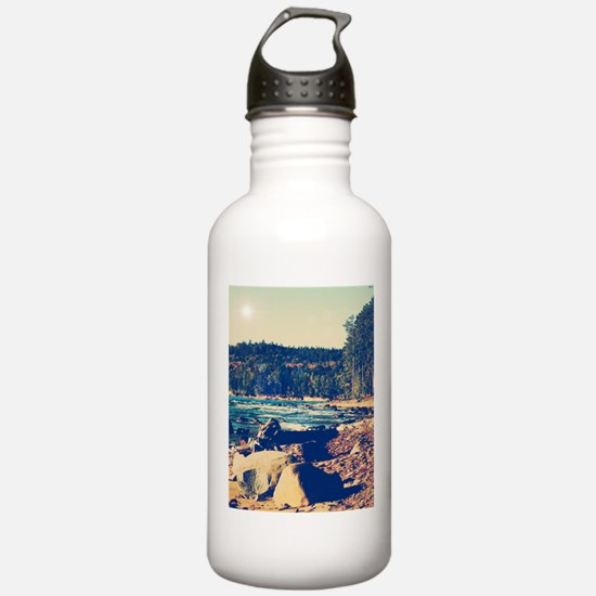 Rocky Shores of Lake Superior Water Bottle