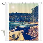 Rocky Shores of Lake Superior Shower Curtain