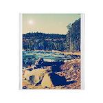 Rocky Shores of Lake Superior Throw Blanket