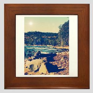 Rocky Shores of Lake Superior Framed Tile