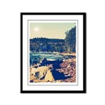 Rocky Shores of Lake Superior Framed Panel Print