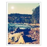 Rocky Shores of Lake Superior Small Poster