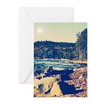 Rocky Shores of Lake Superior Greeting Cards (Pk o