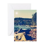 Rocky Shores of Lake Superior Greeting Card
