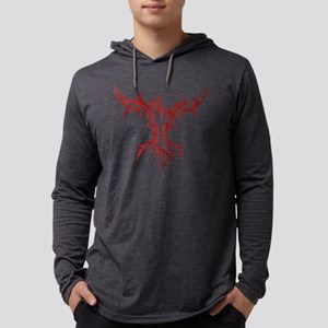 1690 Red Symbol Mens Hooded Shirt