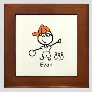 Boy & Bowling - Evan Framed Tile