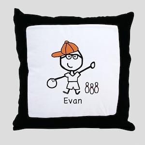 Boy & Bowling - Evan Throw Pillow