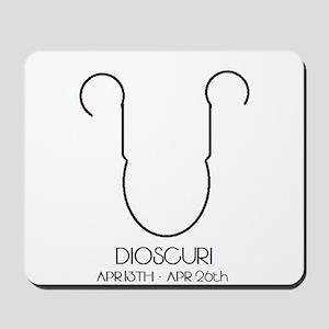 Dioscuri Asterian astrology Mousepad