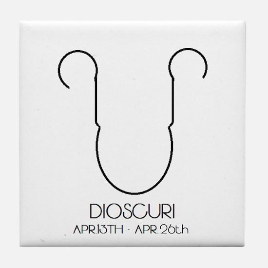 Dioscuri Asterian astrology Tile Coaster