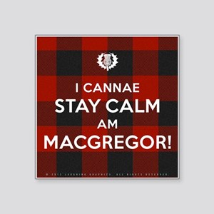 "MacGregor Square Sticker 3"" x 3"""